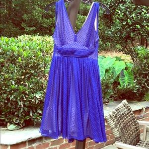Anthropologie HD Purple/Blue Party Dress size 2